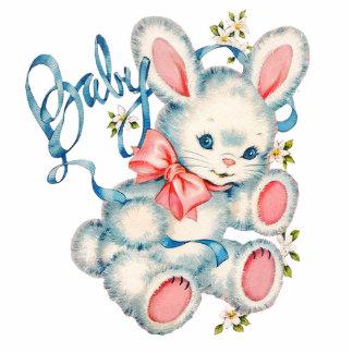 Rosa und blaue Häschen-Babyparty Freistehende Fotoskulptur
