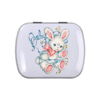 Rosa und blaue Häschen-Babyparty Jelly Belly Dosen