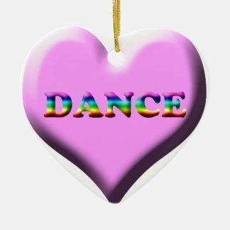 Rosa und blaue Herz TANZ Geschenke für Tänzer! Keramik Ornament
