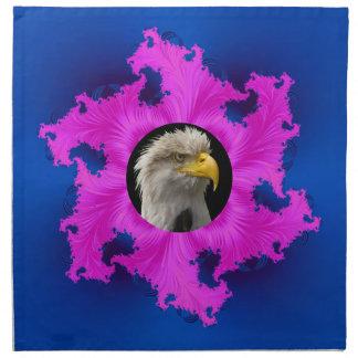 Rosa und blaue Rahmen-Amerikaner MoJo Servietten