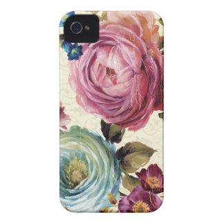 Rosa und blaue Rose Case-Mate iPhone 4 Hülle