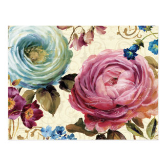 Rosa und blaue Rose Postkarte