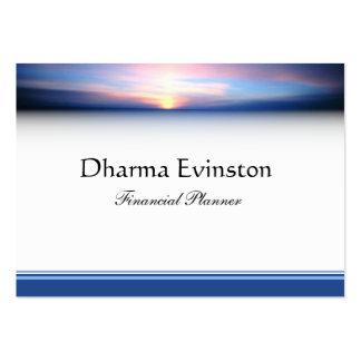 Rosa und blaue Sonnenuntergang-Visitenkarte Jumbo-Visitenkarten
