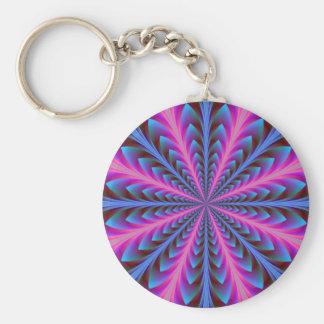 Rosa und blaue Strahlung Keychain Schlüsselanhänger