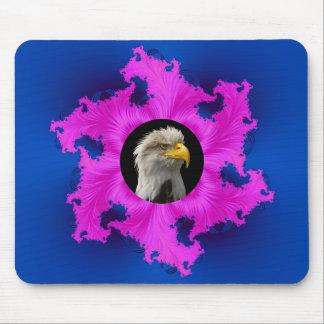Rosa und blauer Rahmen Mousepad