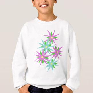 Rosa und blaues Blumen-Sweatshirt Sweatshirt