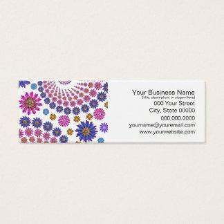 Rosa und blaues Fraktal-Kunst-Muster Mini Visitenkarte