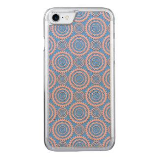Rosa und blaues geometrisches Kreis-Muster Carved iPhone 8/7 Hülle