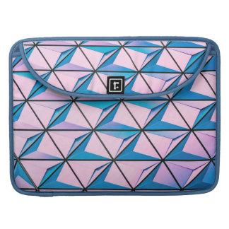 Rosa und blaues geometrisches Muster Sleeve Für MacBooks