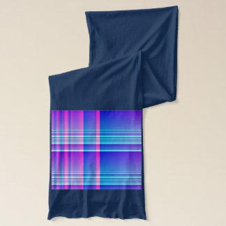 Rosa und blaues kariertes Checkered Schal