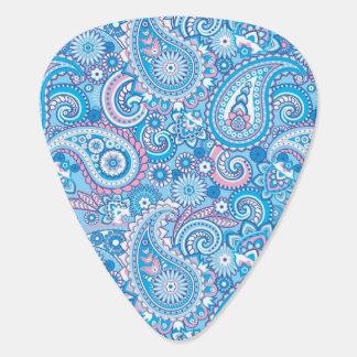 Rosa und blaues Paisley-Muster Plektron