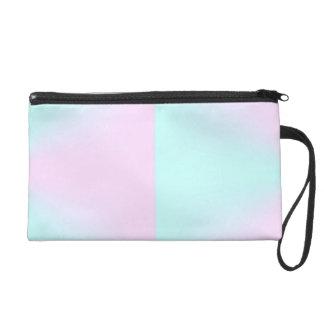 Rosa und blaues PastellBagette Wristlet Handtasche