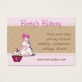 Rosa und Brown-Bäckerei-Visitenkarte Visitenkarte