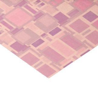 Rosa und Creme-geometrisches Durcheinander Seidenpapier
