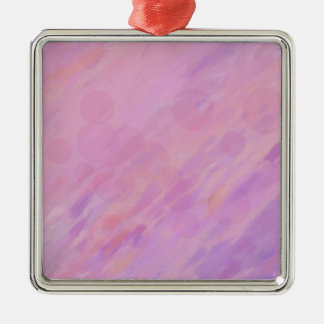 Rosa und Flieder abstrakt Silbernes Ornament