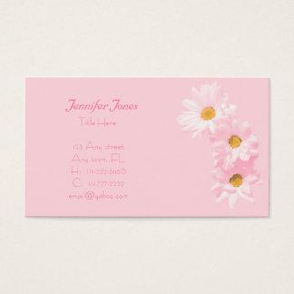 Rosa und Gänseblümchen-BlumenVisitenkarte Visitenkarte