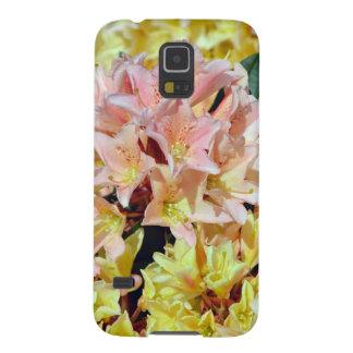 Rosa und gelbe Rhododendron-Blumen Samsung Galaxy S5 Hülle