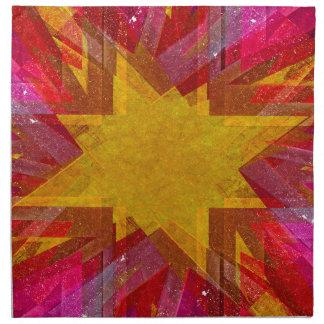 Rosa und gelbe Schmutzexplosion Stoffserviette