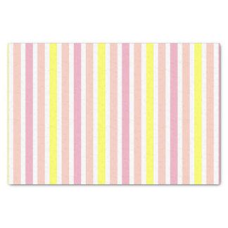 Rosa und gelbe Streifen Seidenpapier