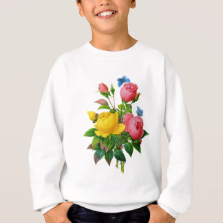 Rosa und gelber Rosen-Blumenstrauß durch Redoute Sweatshirt