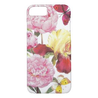 Rosa und gelber Schmetterlings-Iris-mit iPhone 8/7 Hülle