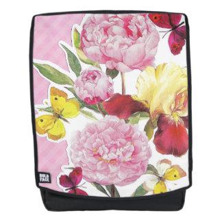 Rosa und gelber Schmetterlings-Iris-mit Rucksack