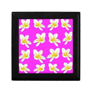 Rosa und gelbes Frangipani-Muster, Schmuckschachtel