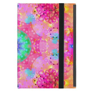 Rosa und gelbes Kaleidoskop-Fraktal Hülle Fürs iPad Mini