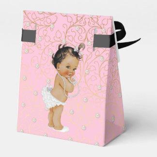 Rosa und GoldBabyparty-Bevorzugungs-Zelt Geschenkschachtel