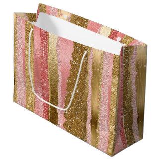 Rosa-und Goldbezaubernde Geschenk-Tasche Große Geschenktüte