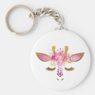 Rosa und Goldgiraffe Keychain Schlüsselanhänger