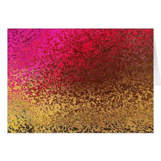 Rosa und Goldmuster Karte