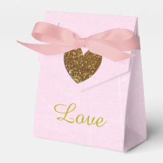 Rosa-und Goldsüßigkeits-Gastgeschenk-Kasten Geschenkschachtel