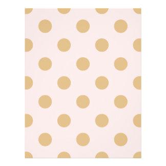 Rosa und GoldTupfen-Muster Flyer