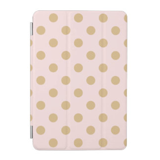 Rosa und GoldTupfen-Muster iPad Mini Hülle