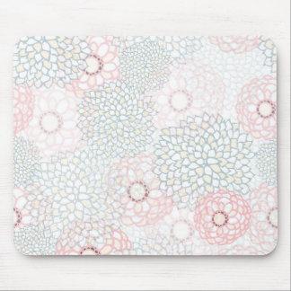 Rosa und grauer Blumen-Explosions-Entwurf Mousepad