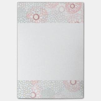 Rosa und grauer Blumen-Explosions-Entwurf Post-it Klebezettel