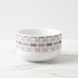 Rosa und grauer Glitter, der Muster schaut Große Suppentasse
