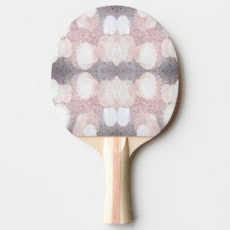 Rosa und grauer Glitter, der Muster schaut Tischtennis Schläger