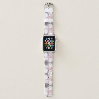 Rosa und grauer Glitzer, der Muster schaut Apple Watch Armband