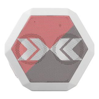 Rosa und grauer Hieb-Pfeil, modern, glatt Weiße Bluetooth Lautsprecher