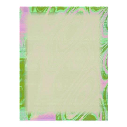 Rosa-und Grün-freier Raum 21,6 X 27,9 Cm Flyer