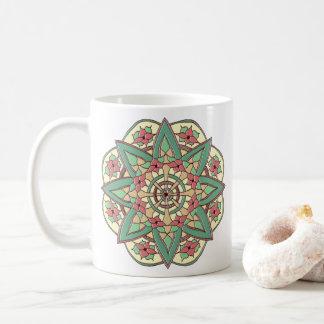 Rosa und grüne Segen-Tasse Kaffeetasse