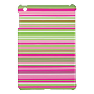 Rosa und grüne Streifen iPad Mini Hülle