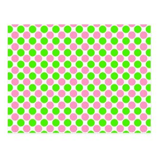 Rosa und grüne Tupfen Postkarten