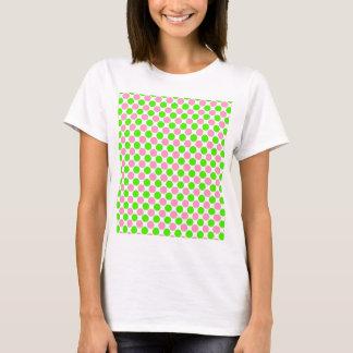 Rosa und grüne Tupfen T-Shirt