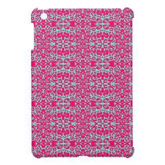 Rosa und grüner Damast iPad Kasten iPad Mini Hülle