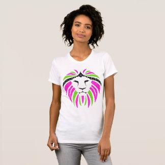 Rosa und grüner Löwe-T - Shirt (Damen-T-Shirt)