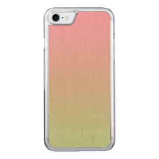 Rosa und grünes Ahorn-Holz Carved iPhone 8/7 Hülle