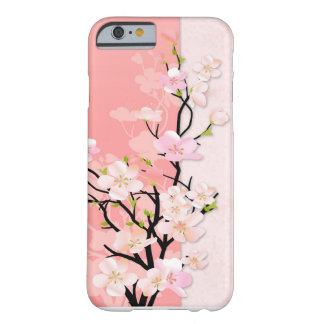 Rosa und korallenrote Blüten-Niederlassung Barely There iPhone 6 Hülle